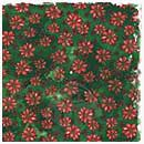 Magnolia Ink 12x12 Paper - Sweet Green Poinsettia (10 sheets)