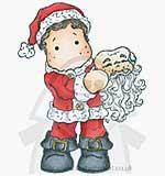 Magnolia Sweet Christmas - Edwin with Santa Mask