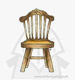 SO: Magnolia Turning Leaves - Old Swedish Chair