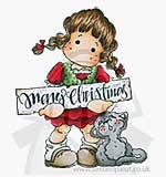 SO: Magnolia EZ Mount - Christmas Tilda with Cat