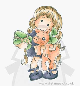Magnolia Christmas Story - Tilda with Pigling