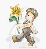 LE13 Magnolia - Edwin with big Daffodil