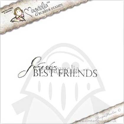 Magnolia EZ Mount AY14 - Forever best friends text [Y0255G]