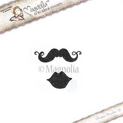 LD15 Magnolia EZ Mount - Lovely Moustache and Lips Set