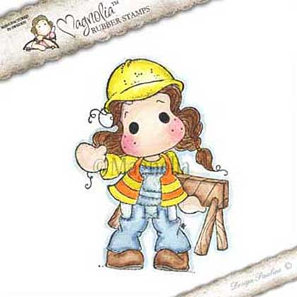 Magnolia EZ Mount Stamp WWW15 - Under Construction Tilda