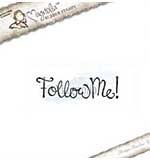 Magnolia EZ Mount Stamp WWW15 - Follow Me Text