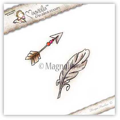 Magnolia EZ Mount Stamp BH15 - Boho Arrow and Feather (2 stamps)