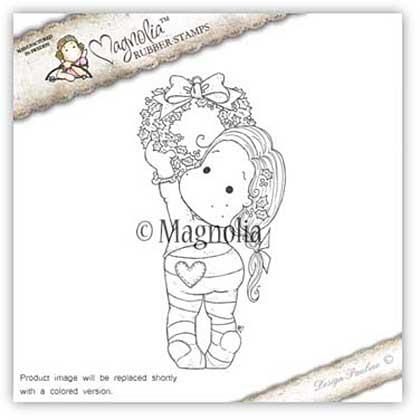 Magnolia EZ Mount Stamp AH16 - Holly Wreath Tilda