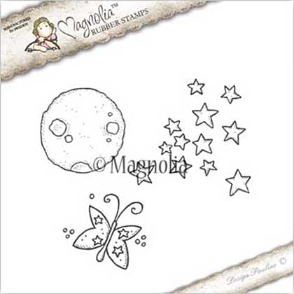 Magnolia EZ Mount Stamp GX17 - Moon Star And Butterfly Kit