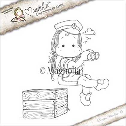 Magnolia EZ Mount Stamp NA17 - Sea Captain Tilda