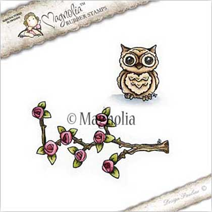 Magnolia EZ Mount Stamp BU17 - Climbing Rose with Owl