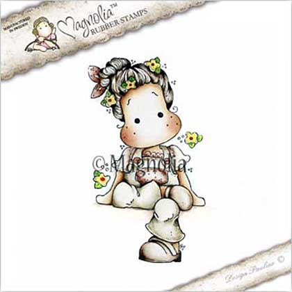 Magnolia EZ Mount Stamp CG17 - Sitting Tilda with Clogs