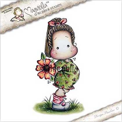 Magnolia EZ Mount Stamp YB17 - Tilda with Big Poppy