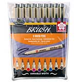 Set Of 9 Pigma Brush Pens