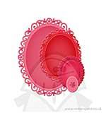 Spellbinders Nestabilities - Dec Elements - Floral Ovals