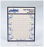 Self Adhesive Pearl Embellishments - White (3mm)