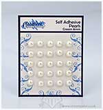 SO: Self Adhesive Pearl Embellishments - Cream (8mm)