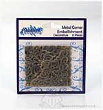 Metal Corner Embellishments - Decorative (8pk)