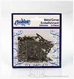 Metal Corner Embellishments - Victorian (12pk)