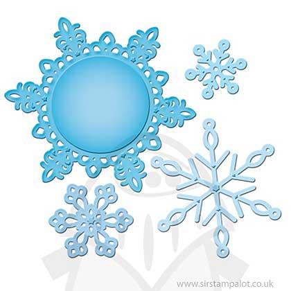 Spellbinders - Shapeabilities - 2012 Snowflake Pendant