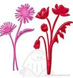 Spellbinders Shapeabilities Dies D-Lites - Asters and Poppies