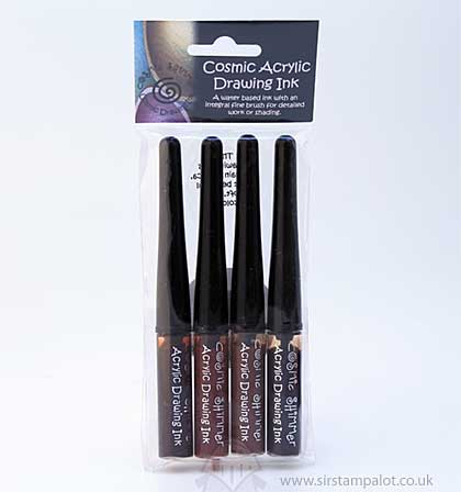 Cosmic Shimmer Drawing Ink Set - Autumn Shades