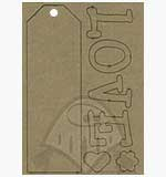 Pront Home Deco MDF A5 - Love with Tag Heart Blossom