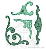 Spellbinders Imperial Gold Nestabilities - Gold Corbels Accents