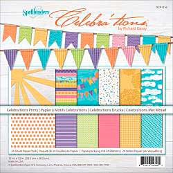 Celebrations Cardstock Assortment Pack 12x12 24pk - Prints