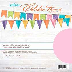 Celebrations Cardstock Assortment Pack 12x12 24pk - Solids