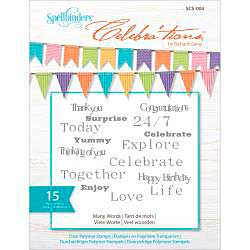 Celebrations Stamps 4x6 15pk - Many Words