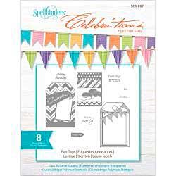 Celebrations Stamps 4x6 8pk - Fun Tags