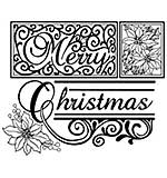 Creative Expressions Merry Christmas Pre-Cut Stamp