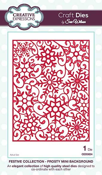 Sue Wilson Festive Collection - Snowflake Frosty Background