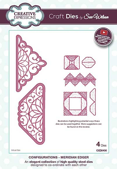 Sue Wilson Cutting Die - Configurations Collection - Meridian Edger