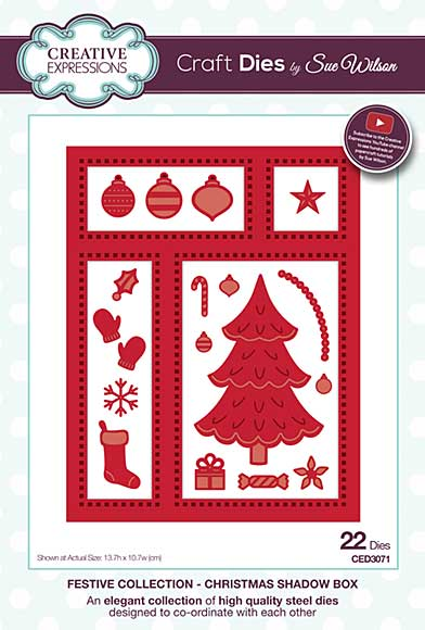 Sue Wilson 2016 Festive Collection - Christmas Shadow Box