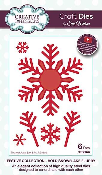Sue Wilson 2016 Festive Collection - Bold Snowflake Flurry