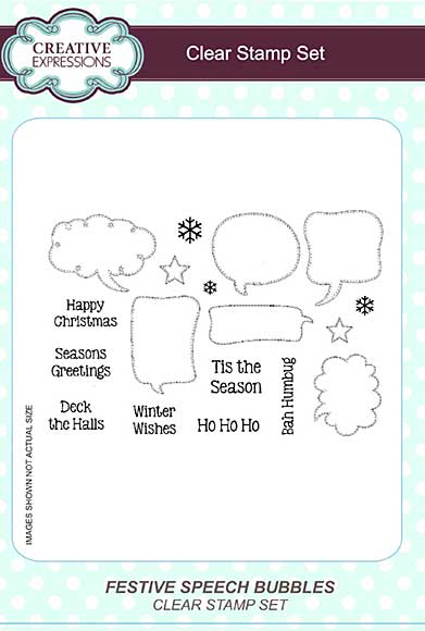Festive Speech Bubbles A5 Clear Stamp Set
