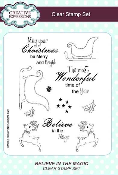 Believe in the Magic A5 Clear Stamp Set
