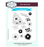 Christmas Rose Elements A5 Clear Stamp Set