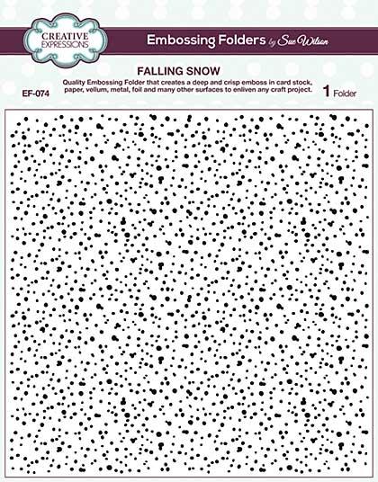 Emboss Folder 8 x 8 Falling Snow