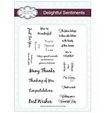 Delightful Sentiments - A5 Clear Stamp Set Delightful Sentiments - A5 Clear Stamp Set