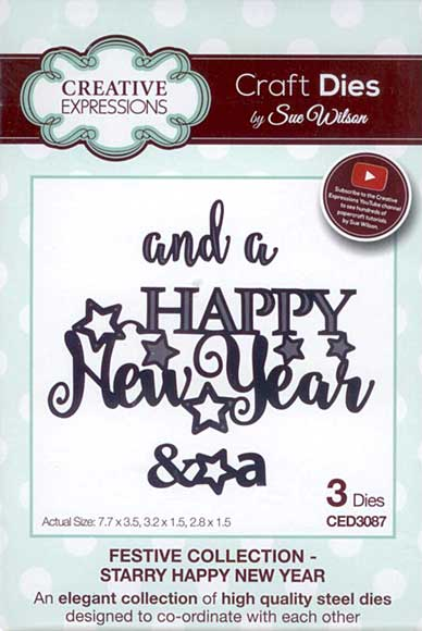 SO: Sue Wilson - Festive Collection - Starry Happy New Year