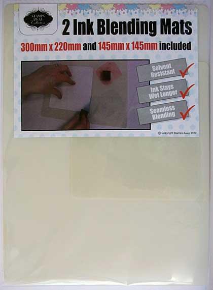 Stamps Away Ink Blending Mat Set (2 Mats, 300x220mm, 145x145mm)