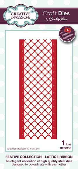 Sue Wilson Festive Collection - Lattice Ribbon
