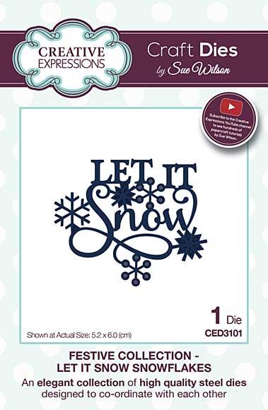 SO: Sue Wilson Festive Collection - Let It Snow Snowflakes