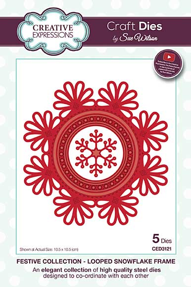 Sue Wilson Festive Collection - Looped Snowflake Frame