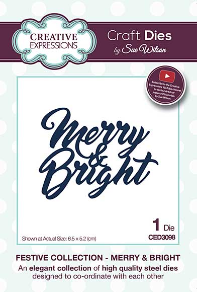 SO: Sue Wilson Festive Collection - Merry and Bright