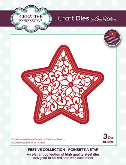 SO: Sue Wilson Festive Collection - Poinsettia Star
