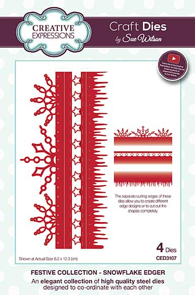 SO: Sue Wilson Festive Collection - Snowflake Edger